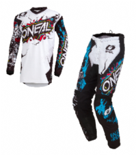 O`Neal ELEMENT Youth Jersey & Pant Combo VILLAIN white